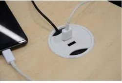 White Electric USB Charger, for Charging