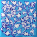 Blue New Indian Pottery Tiles, 4 X 4 Inch