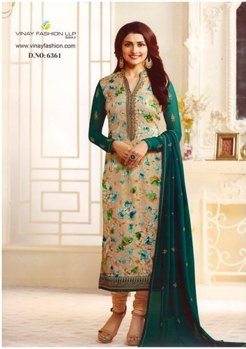 6a472a3066 Party Wear Mix Vinay Kaseesh Georgette Brasso Dress Material, Rs ...
