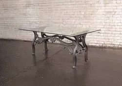 Cast Iron Dining Table - Rustic Industrial Style