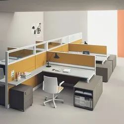 PARTICLE BOARD MODULAR CLUSTER OFFICE WORKSTATION