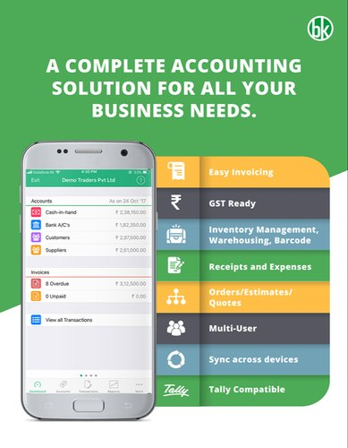 Bookkeeper Accounting App for Windows , Android and IOS 1 Device 1 Year