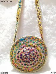 Round Multicolor Sling Bag