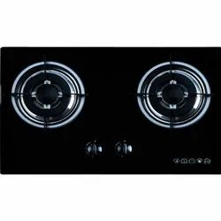 600 x 380 x 95 mm 2 Burner Gas Hob
