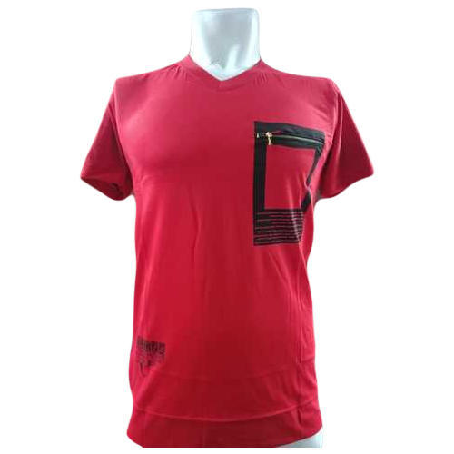 1d81f3fedbe0 Hosiery M To 4XL Mens Red V Neck T-Shirt, Rs 90 /piece, Fit For Man ...