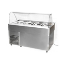 Glass, Ss Rectangular Cold Salad Counter, Warranty: 2 Year, Size: 60 X 28 X 48 Inch