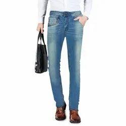 Faded Regular Fit Mens Jeans Denim Fashion M.Stone