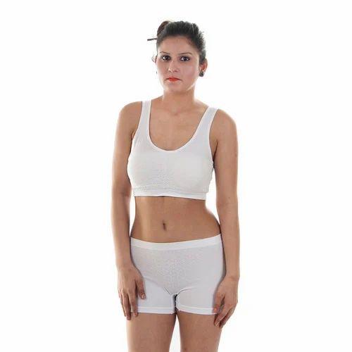 0f67af06003 White Sports Bra Panty Set