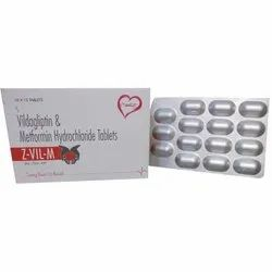 Vildagliptin and Metformin Hydrochloride Tablets
