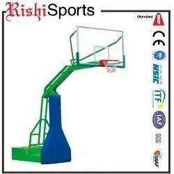 Blue & White Basketball Pole Round Pipe Umbrella System