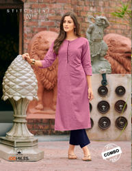 Cotton Party Wear Kurtis With Pants, 120, Wash Care: Machine wash