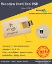 Wooden Card Eco USB Pen Drive