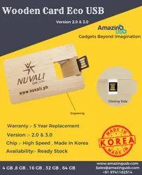 CARD Shape ( Wooden Card  ) USB Pendrive