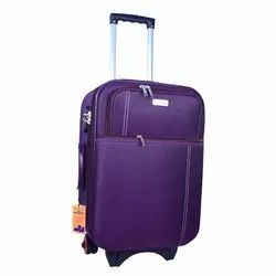 Purple Polyester Luggage Trolley Bag, Size: 20 Inch