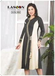 6039 Designer Woolen Kurtis