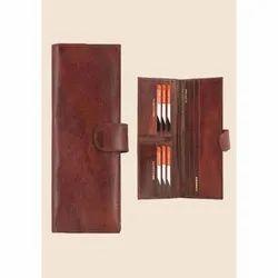 Brown Leather Passport Holder