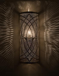 Fluorescent Brand Moroccan Iron Cylindrical Wall Light, For Home