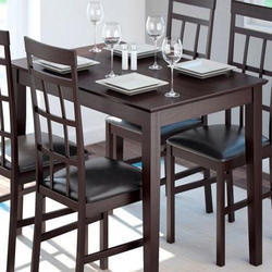 Solid Wood Rectangular Dining Table Set