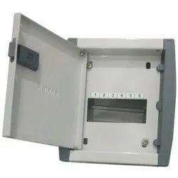 Single Door Mild Steel (MS) 6 way double door Mcb box, for Electric Fittings