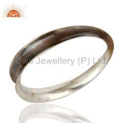 Sterling Plain Silver Antique Bangle