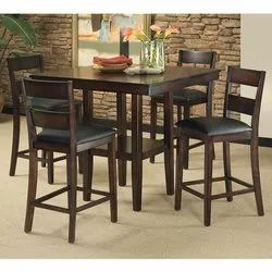 B-Brown Arts Wooden 4 Chair Set Dinning Table