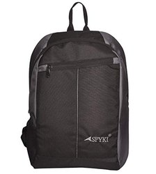 Black Polyester Laptop Bagpack, Size/Dimension: 18 Inch, Capacity: 15 L