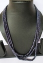 Blue Sapphire Necklace - 3 Lines