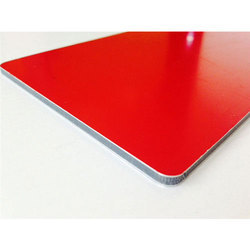 Bright Red Metallic Aluminium Composite Panel