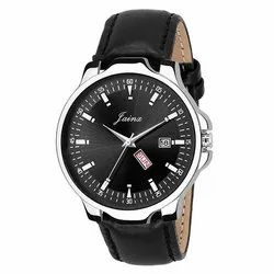 Jainx Day & Date Analogue Round Black Dial Watch for Men & Boys JM324
