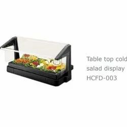 Prochef HCFD 003 Table Top Salad Cold Display Counter, For Restaurant, Power Consumption: 1 Kw