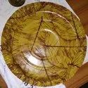 Sal Patta Paper Plate Raw Material 100 GSM / Film (Brown and Red Color)