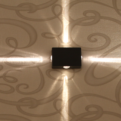 Metal Cool White Warm Led Wall Lights 4 Side 12w 3w X