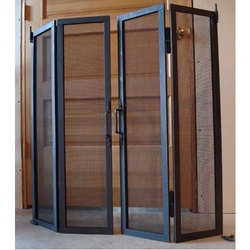 Black Aluminium Mesh Door