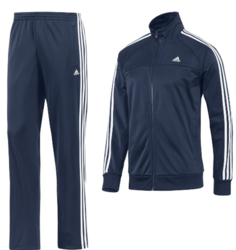 Adidas Men's Navy Blue Tracksuit