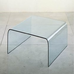 Transparent Bend Glass, Thickness: 12 Mm