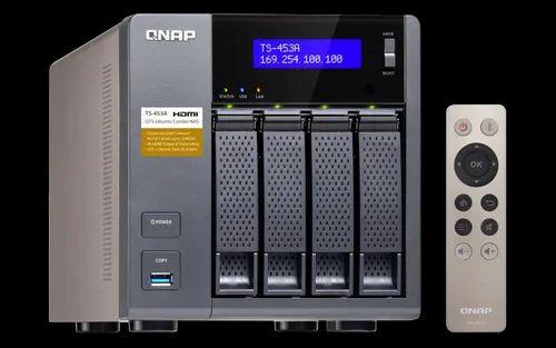 QNAP TS 453 A Network Attached Storage, Dimensions: 177 X 180 X ...