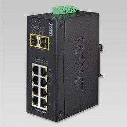 Industrial Un-Managed Ethernet Switch with 8 Ethernet Port & 2 F/O Port
