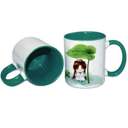 11oz Inner Rim Green Color Mug