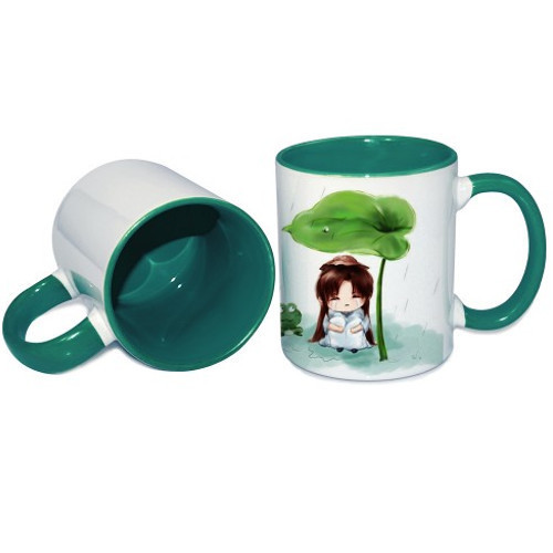 Green Inner Handle Color Mug