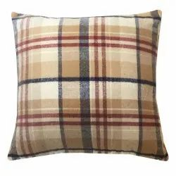 Checkered Square Throw Pillow Sham Home Woven Pillow Cover