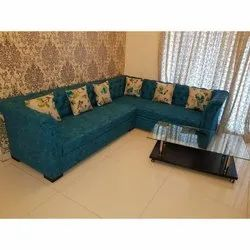 Green Wooden Six Seater Sofa Set