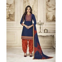 Fancy Cotton Patiala Suit