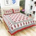 Traditional Rajasthani Print Double Bedsheet with 2 Pillow Covers (100% Cotton)