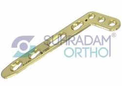 2.4/2.7mm LCP L Dorsal Distal Radius Locking Plate Oblique Angle 3 hole head