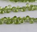 Tiny Peridot Faceted Gemstone Beads