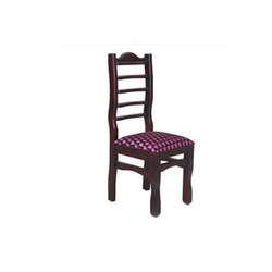 Polished Wood Dining Chair