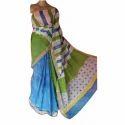 Designer Block Printed Kerala Cotton Saree