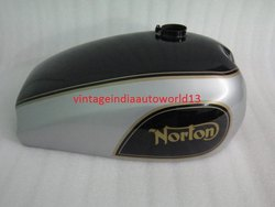 New Norton Dominator Model 88 99 Wideline Black And Silver Painted Petrol Tank
