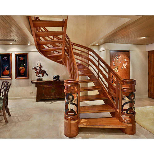 20 Unusual Interior Decorating Ideas For Wooden Stairs: Designer Wood Stairs, लकड़ी की सीढ़ी