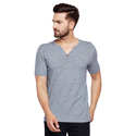 Men's Half Sleeves V-neck 100% Cotton T-shirt